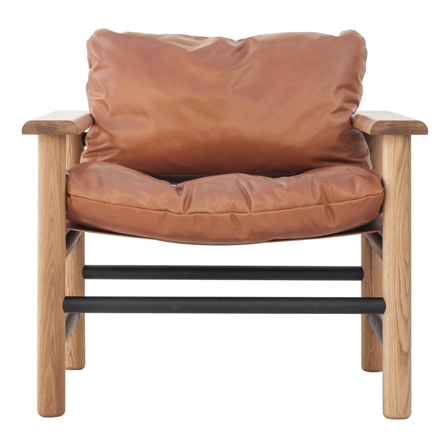 Genial Big Fella Tan Leather Armchair